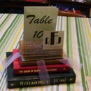 Centerpiece and Table Number Holder from Old Books