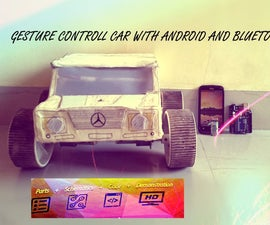 Gesture control car(robot) with Arduino and Android(bluetooth)