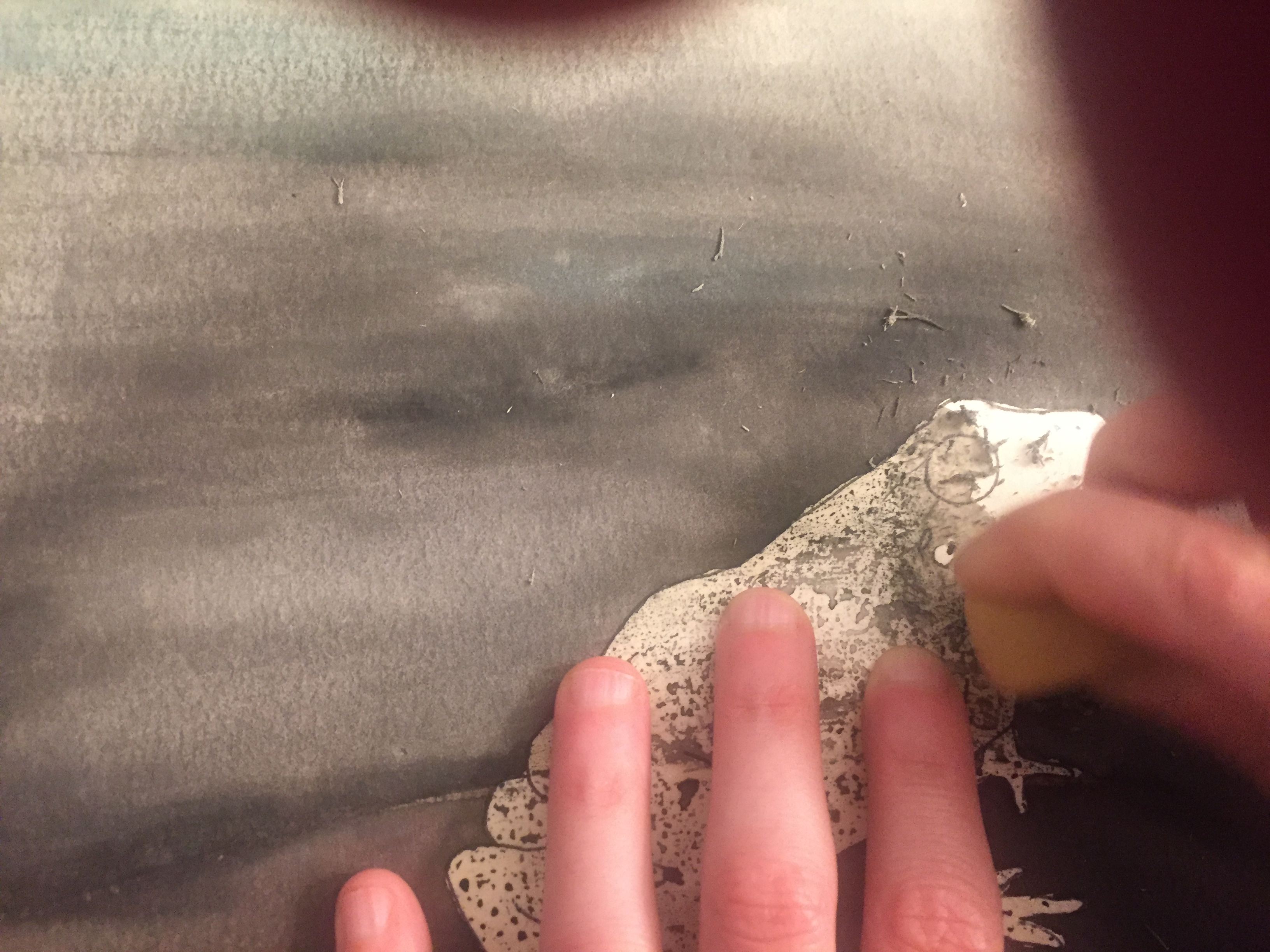 Picture of Remove the Masking Fluid