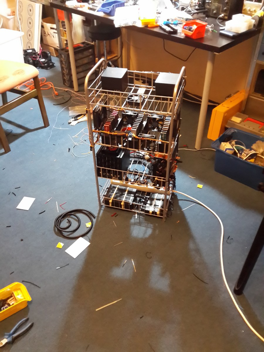 Picture of Build Your Own Portable Bitcoin Mining Rig / Battlestation