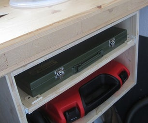 Workbench Toolbox Drawer With a Storage Shelf at the Bottom