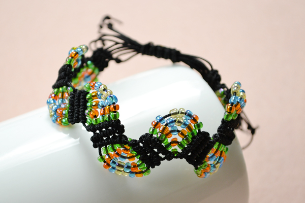 Picture of Here Is the Final Look of the Adjustable Macramé Beaded Bracelets: