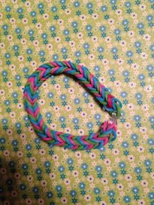 Fishtail- Blue Green and Pink