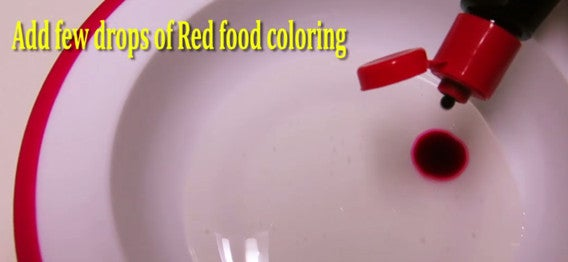 Step 2: Add Red Food Coloring