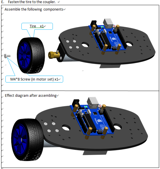Picture of Tire and Motor Assembly