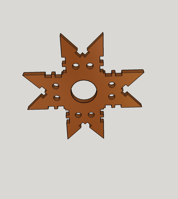 Picture of Drill Ornamental Holes, Cut-off Snowflakes, and Finish