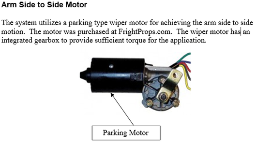 Arm Side to Side Motor