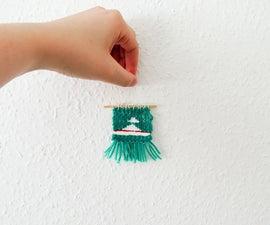 Miniature Pin Weaving   DIY Woven Mini Wall Hanging
