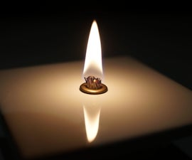 How to Make an Oil Candle From a Tile or Rock