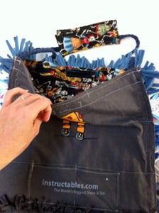 Shag Bag From Recycled T-Shirts