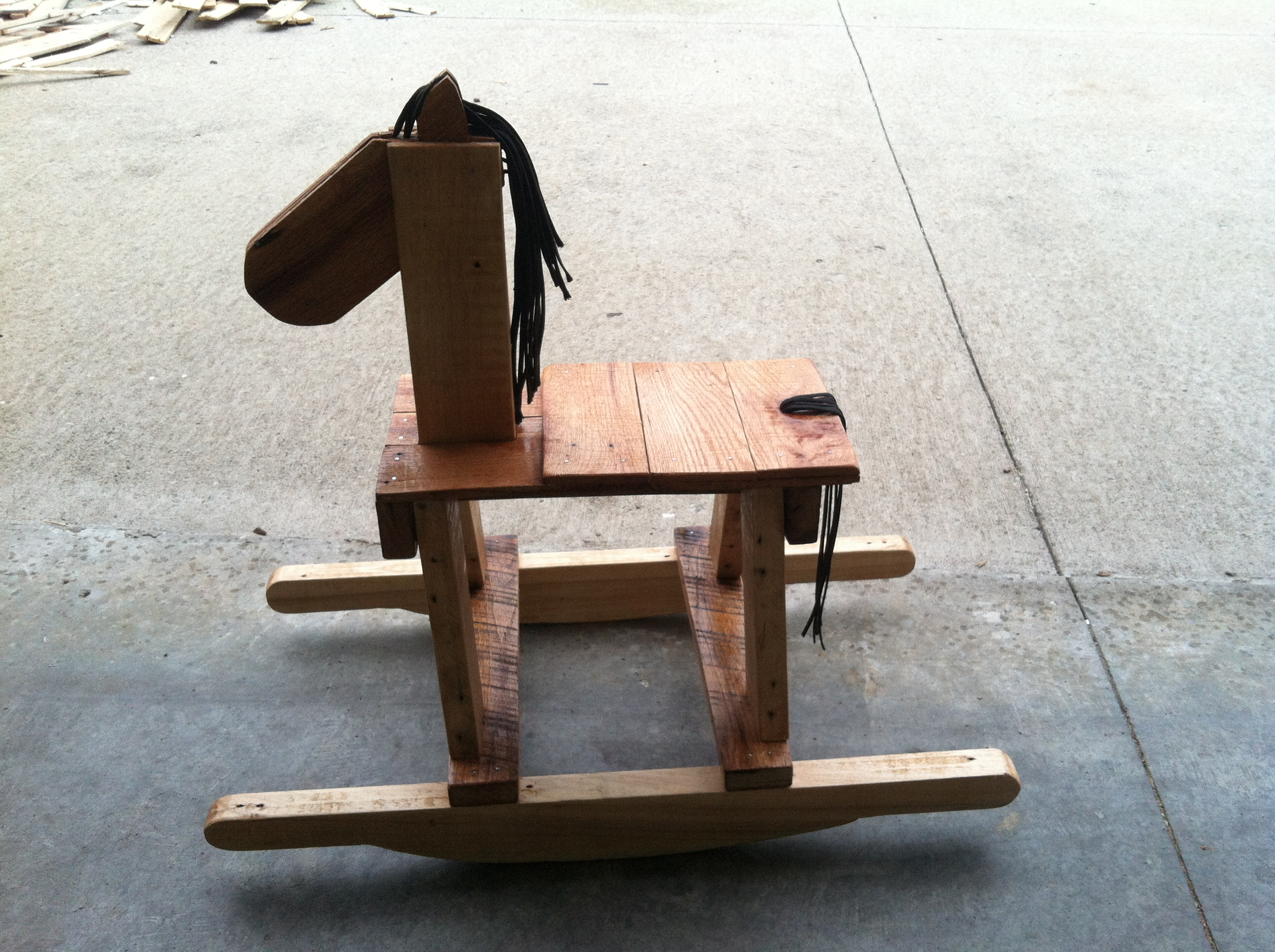 Picture of Rocking Horse Pallet Art:  How to Make Your Own Rustic Rocking Horse
