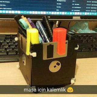 Floppy Disk Pen Holder