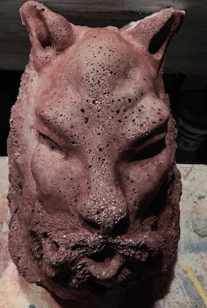 Picture of Casting Concrete Ornament Using Latex Molds.