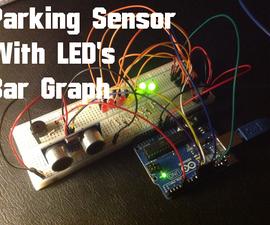 Arduino - Ultrasonic Sensor with LED's and buzzer