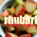 buttermilk rhubarb coffee cake