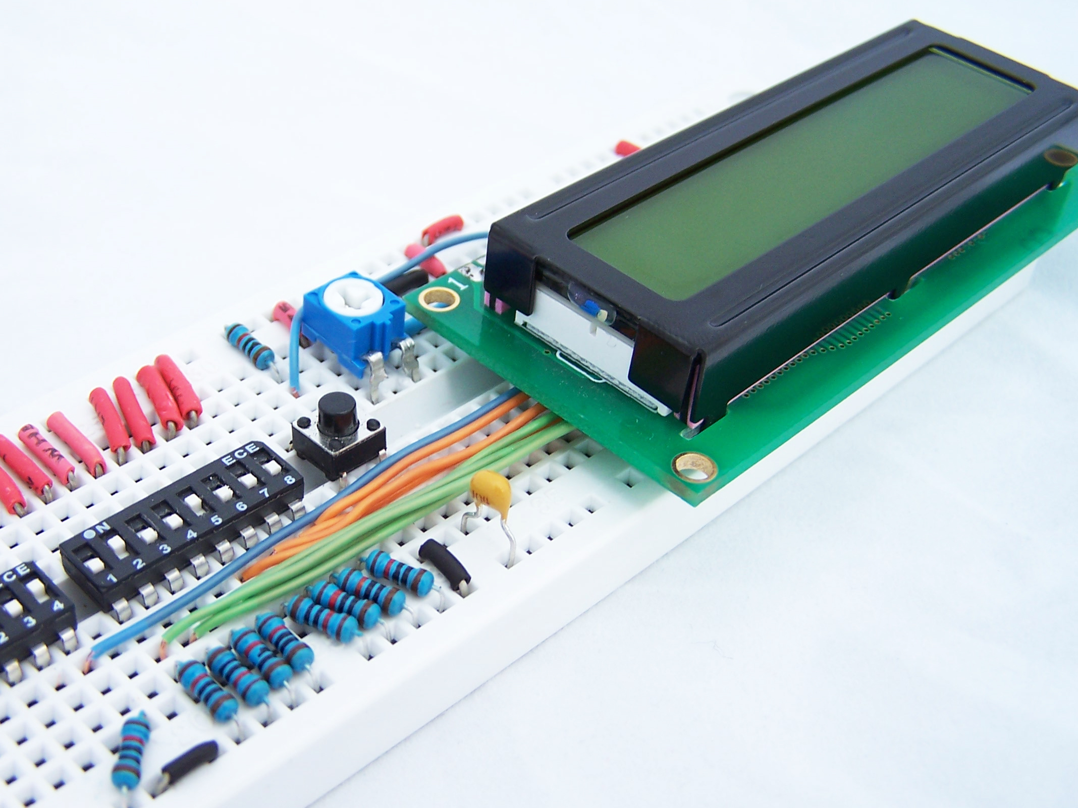 Picture of How to Drive a Character LCD Displays Using DIP Switches