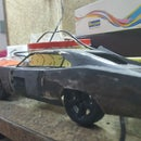 A Scale Model Car Body from Trash