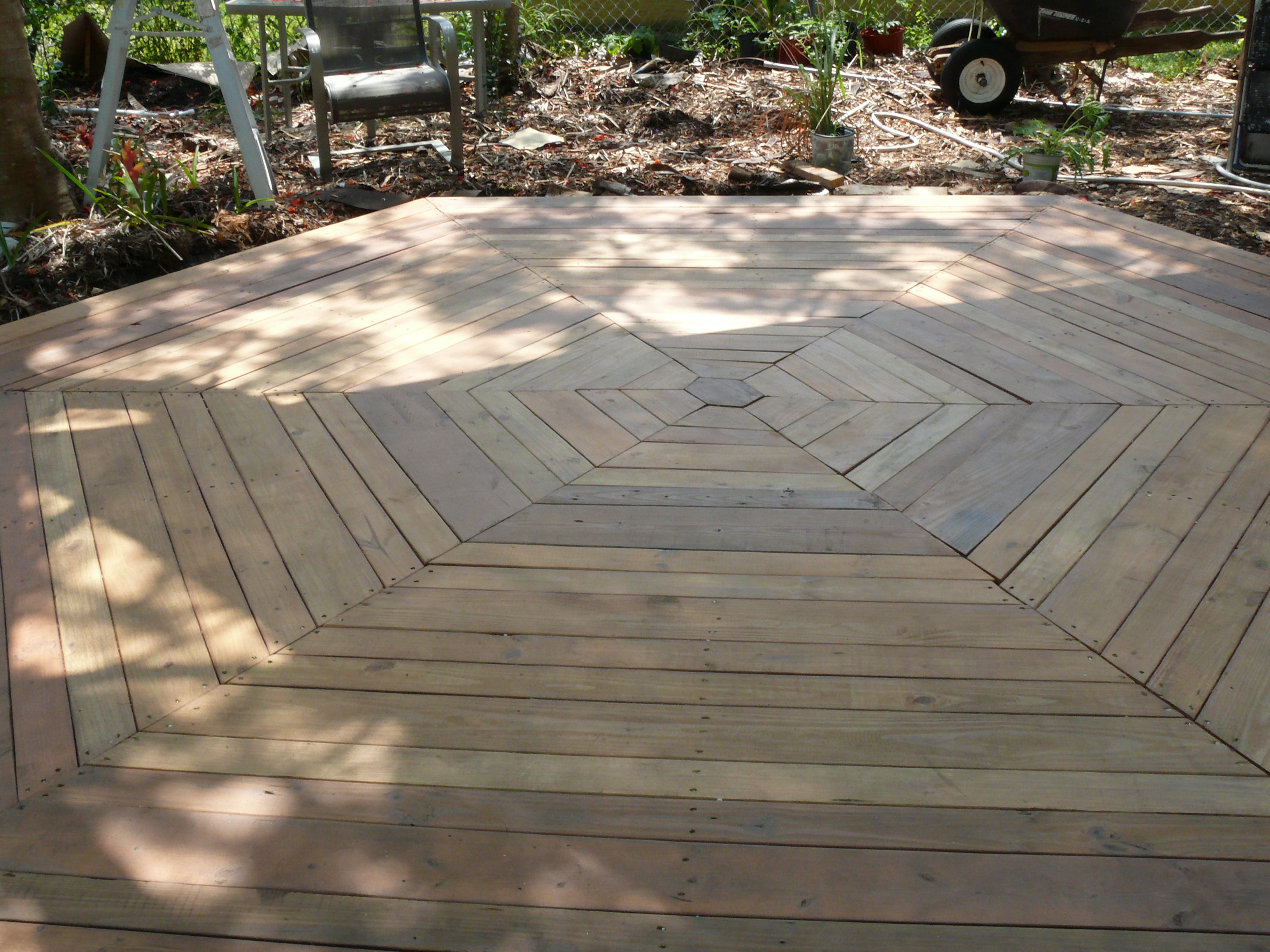 Picture of Hexagon Deck With Recycled Supplies