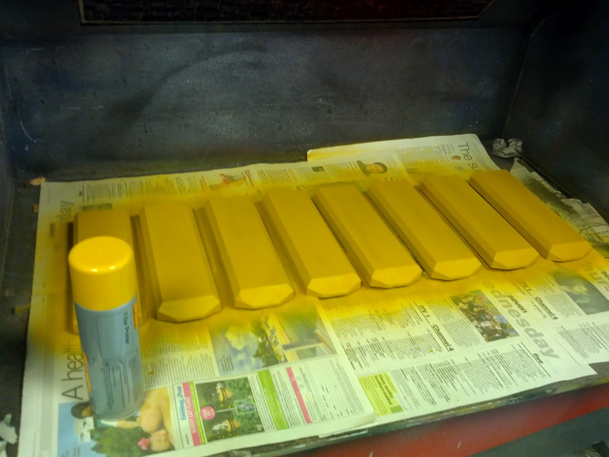 Picture of Paint the Dividers (and Edging If Using)