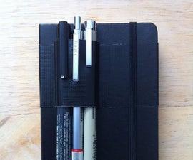 Moleskine Duct Tape Based Pen Case/holder