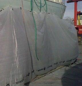 A Sanding Screen for a Boat (custom Temporary Tarpaulin/awning)