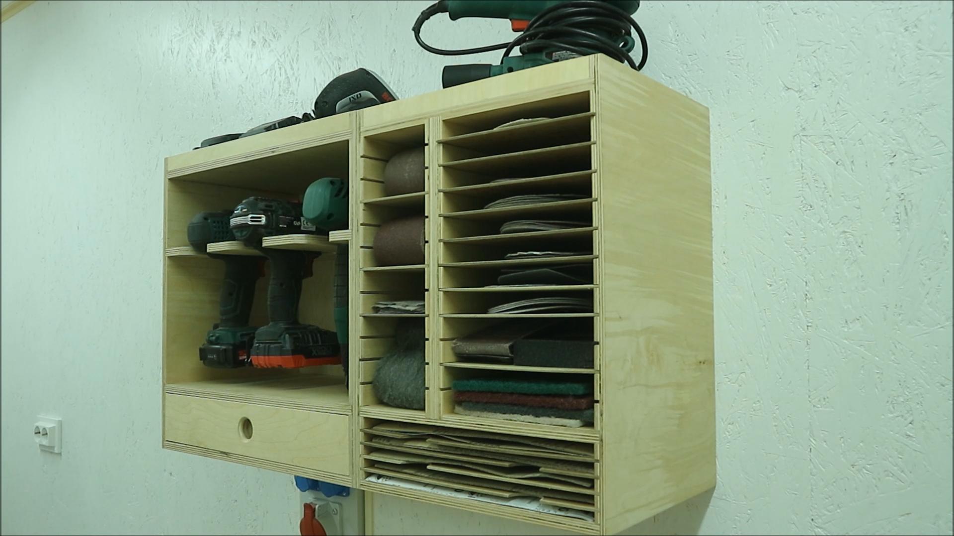 Picture of  Modular Sandpaper Organizer Cabinet