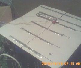 Yagi foil HDTV antenna.