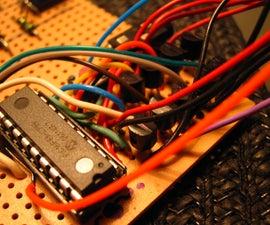 Controlling a keypad matrix via a microcontroller