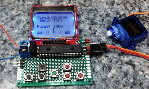 Servo Tester With Graphic LCD