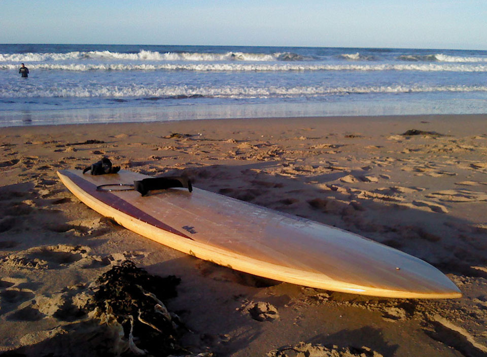 Picture of Reclaimed Timber Hollow Wood Surfboard - 9'2