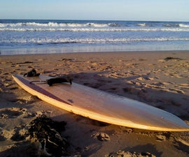 Reclaimed timber Hollow Wood Surfboard - 9'2