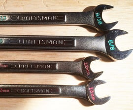 Size Markings for Wrenches and Sockets