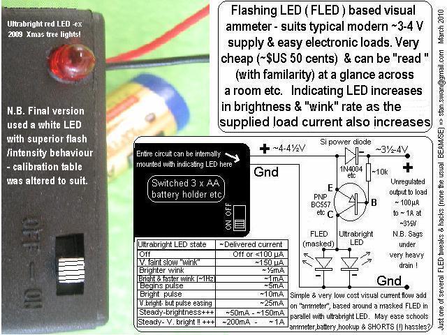 "Picture of Single LED ""ammeter""- FLED Based."