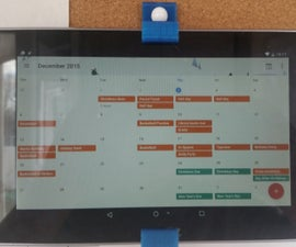 Motion Activated Digital Calendar