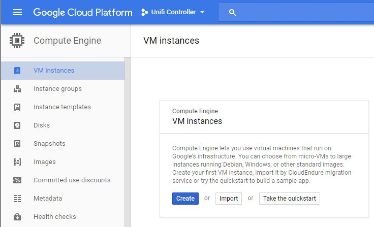 Picture of Creating the VM Instance