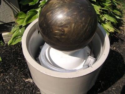 Bowling Ball Garden Water Feature