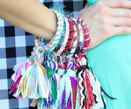 Scrap Fabric Tassel Bracelets