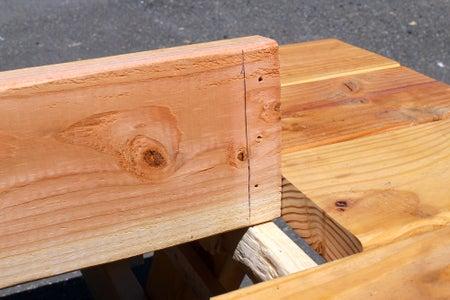 Mark Underside of Center Plank for Feet