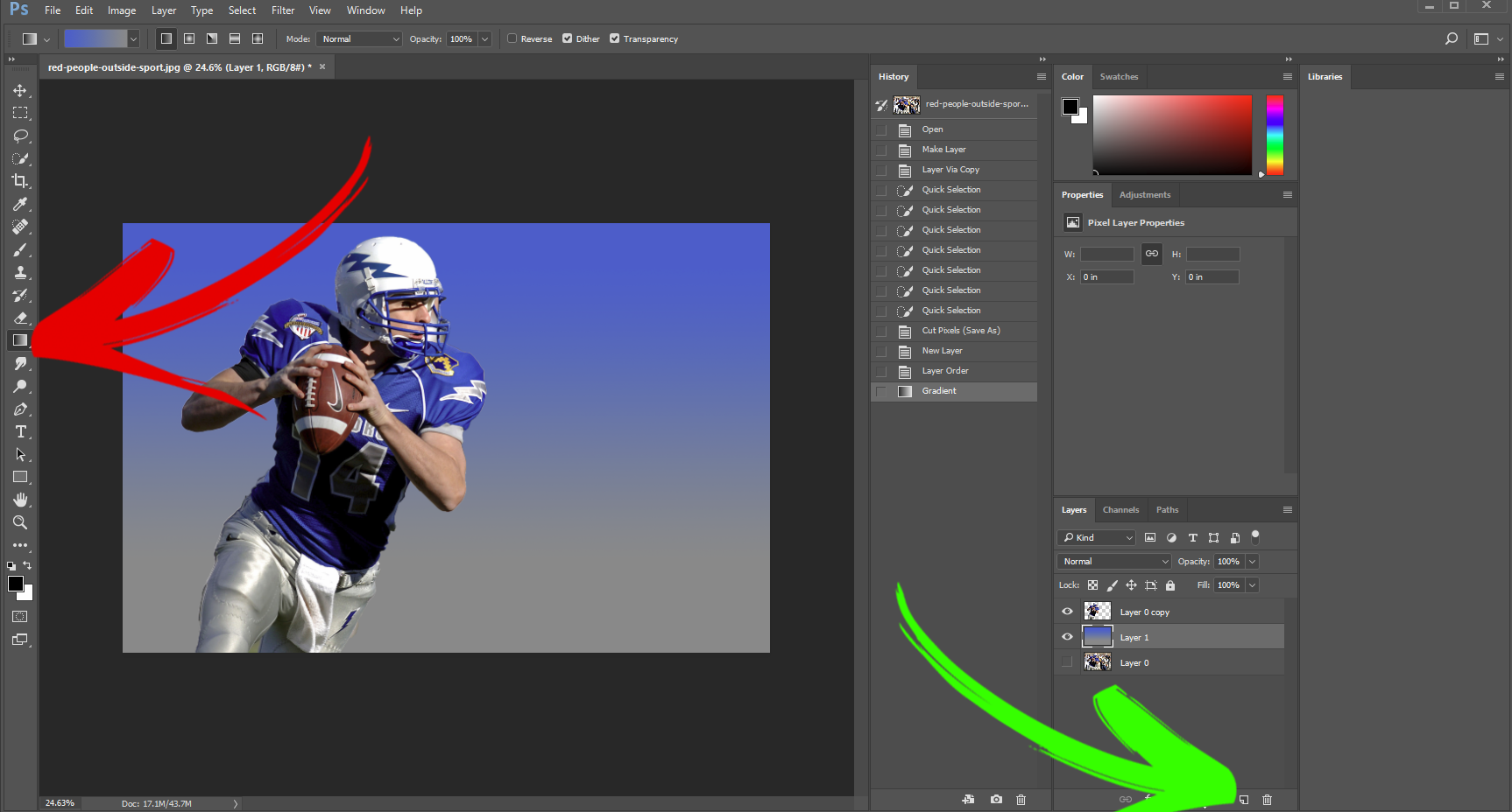 Picture of Add a Background Color With the Gradient Tool