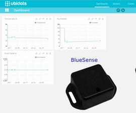 BlueSense + Ubidots