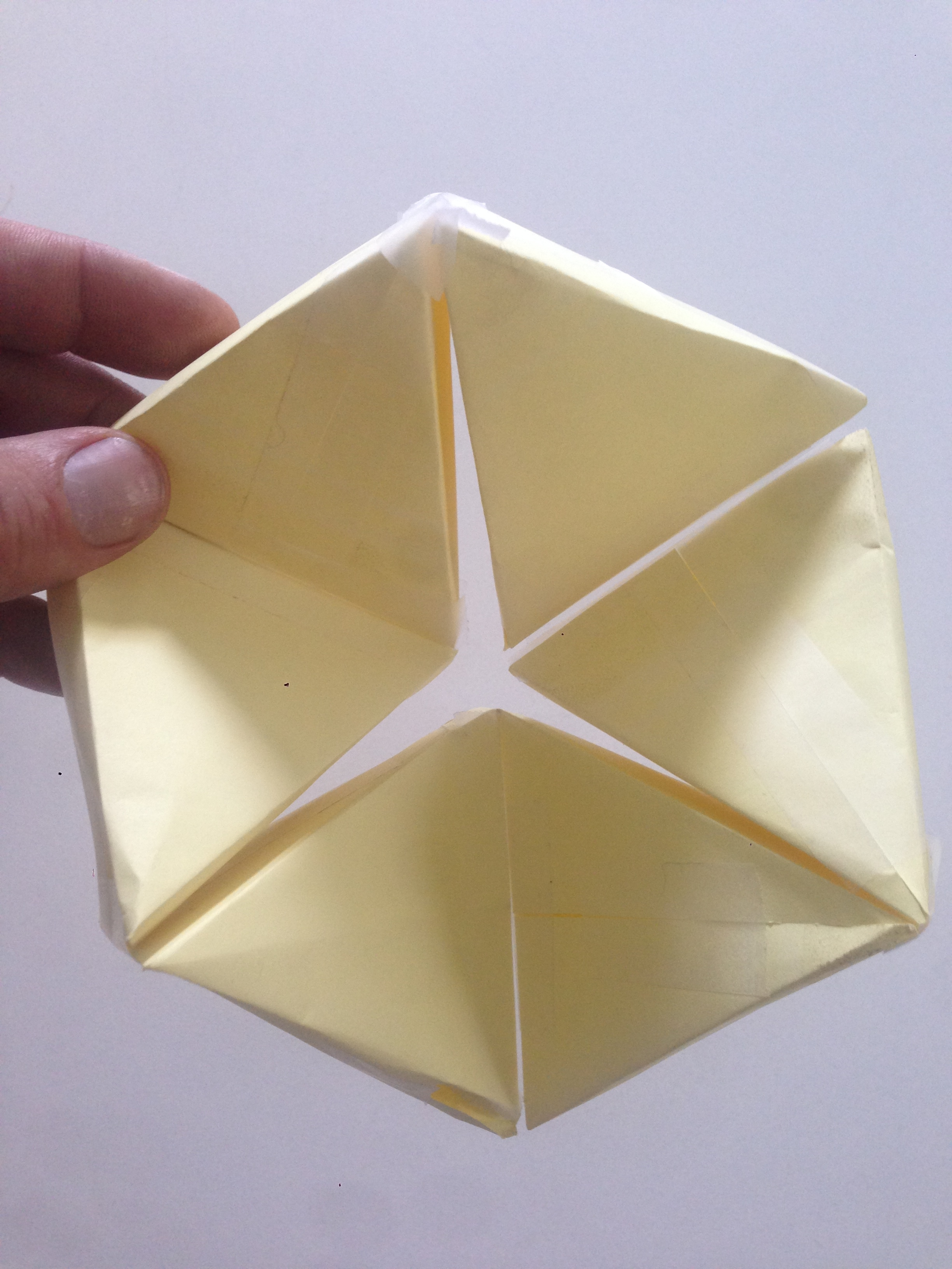 Picture of Flexahedron With 3M Post-It Notes and Scotch Tape