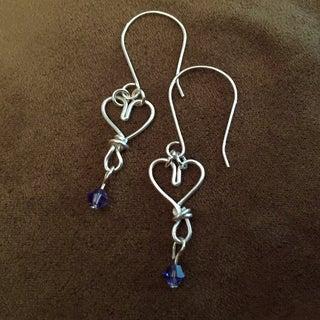 Valentines Wire Heart Earrings