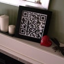 QR Code Love Note Needlepoint
