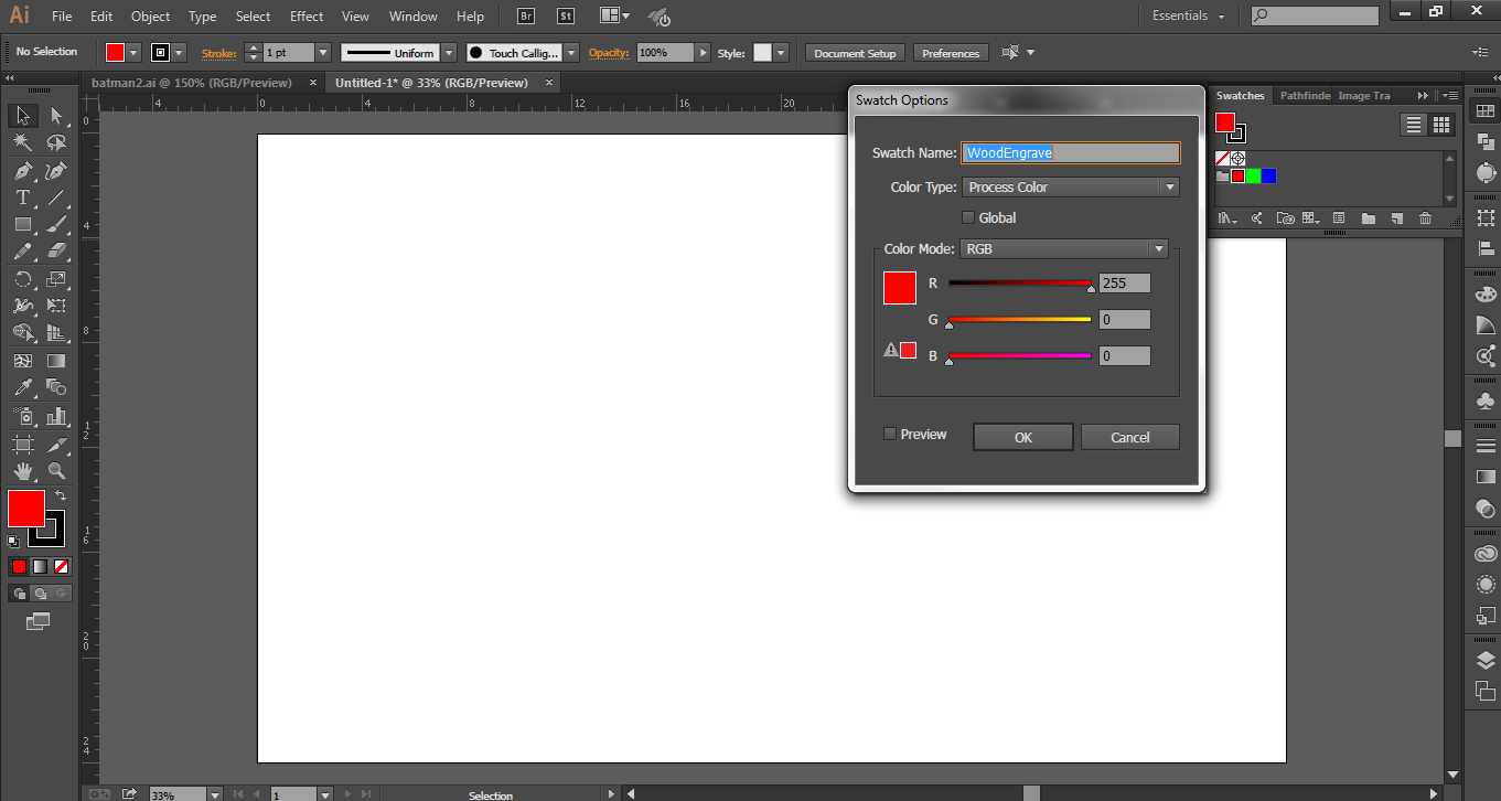 Picture of Preparing Illustrator for Future Usage - Deleting and Adding Swatches.