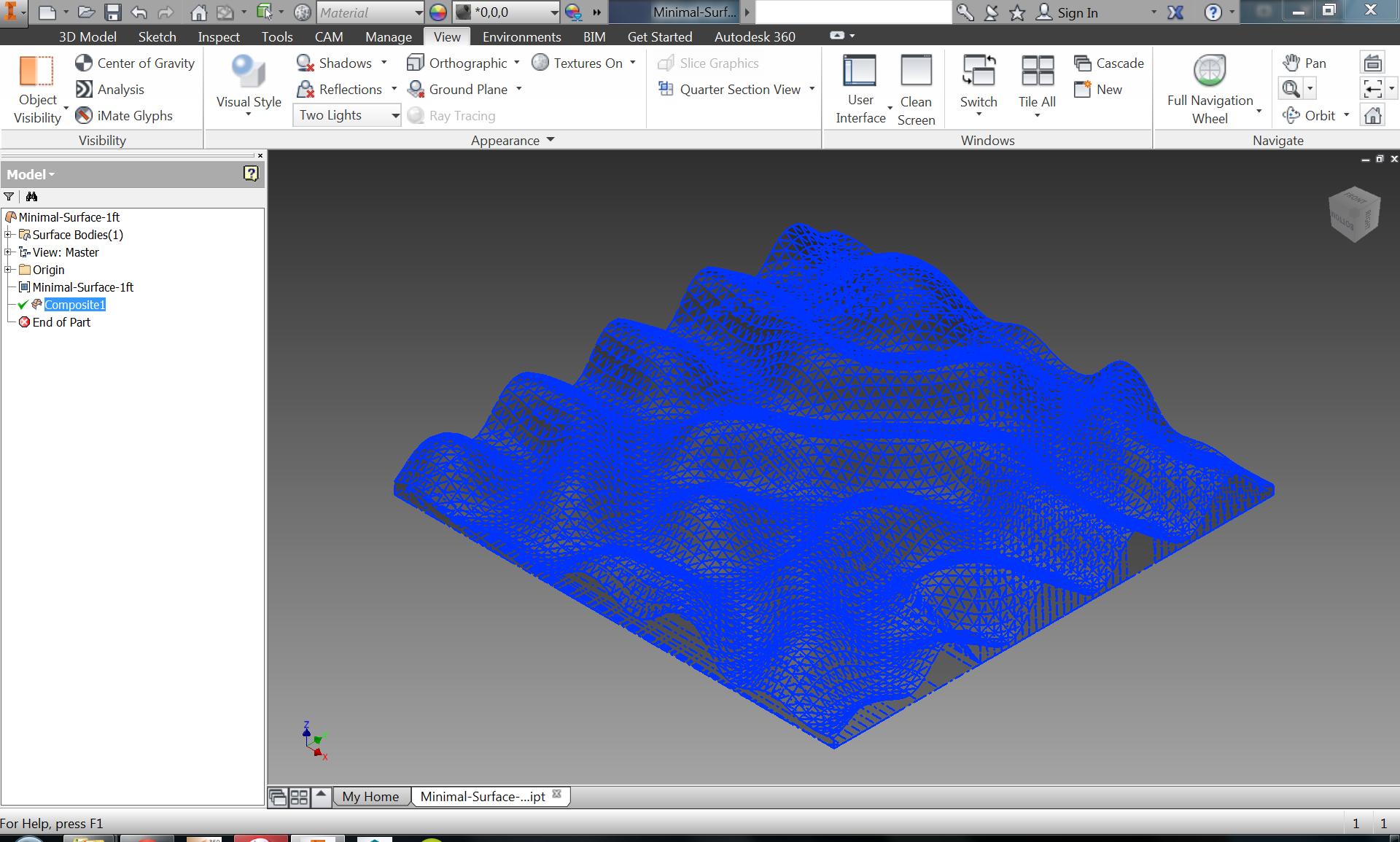 Picture of Import the STL Model Into Inventor and Convert It Into a Solid
