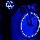 LED logo Rammstein on  bicycle