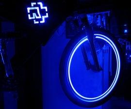 LED logo Rammstein on  bicycle
