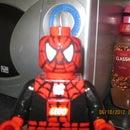 oversized lego spiderman