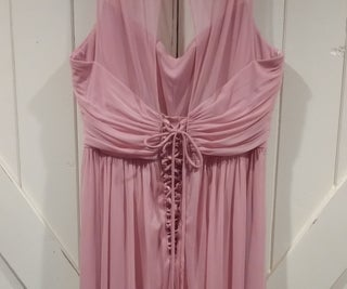 Adding a Corset Back to Make a Dress Bigger