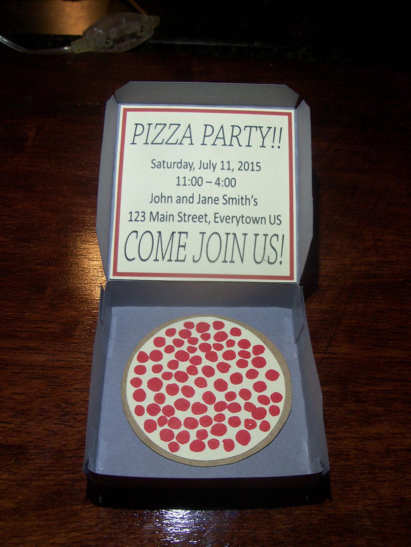 Picture of Pizza Box Party Invitation